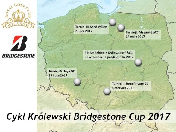 Mapa turniejów Bridgestone Cup 2017