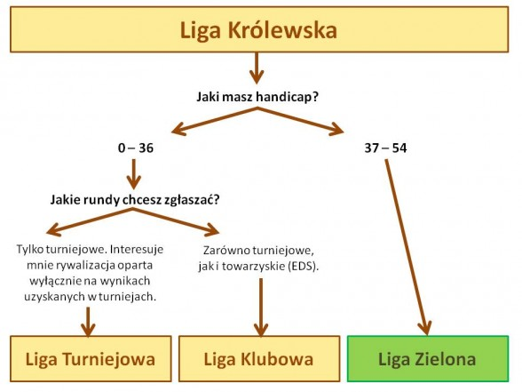 Liga Królewska - schemat (podział)