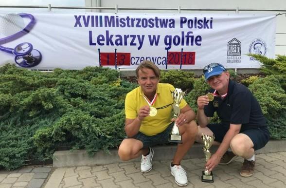 Przemek i Piotr - mistrzowie lekarzy w golfie