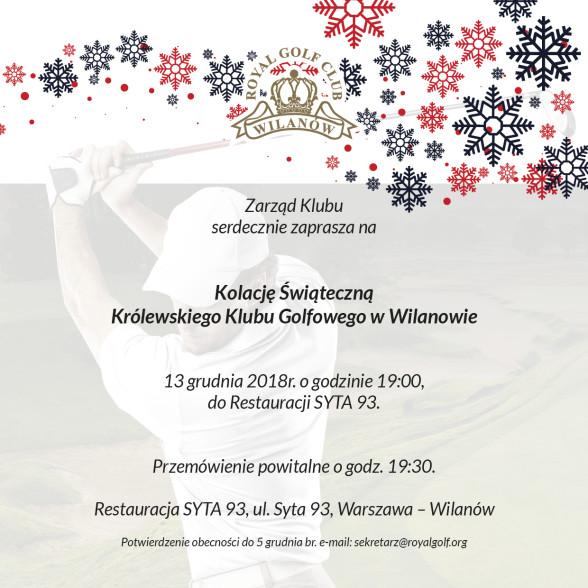 Zaproszenie na Wigilię 2018